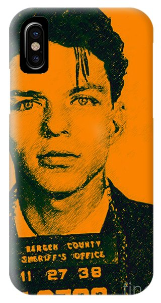 Wingsdomain iPhone Case - Mugshot Frank Sinatra V1 by Wingsdomain Art and Photography