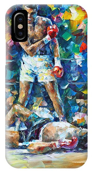 Afremov iPhone X Case - Muhammad Ali by Leonid Afremov