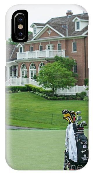 D12w-289 Golf Bag At Muirfield Village IPhone Case