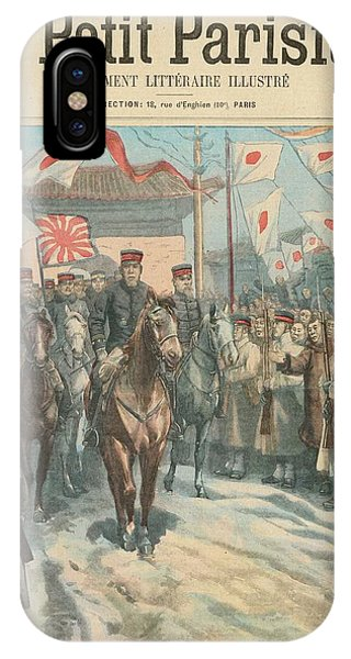Oyama iPhone Case - Mukden  Japanese Commander  Marshal by Mary Evans Picture Library