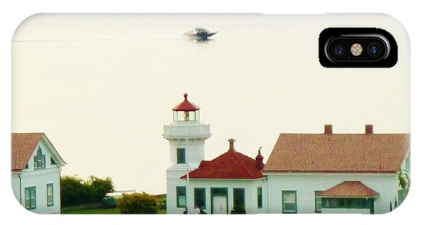 Mukilteo Lighthouse And The Lone Speedboat IPhone Case