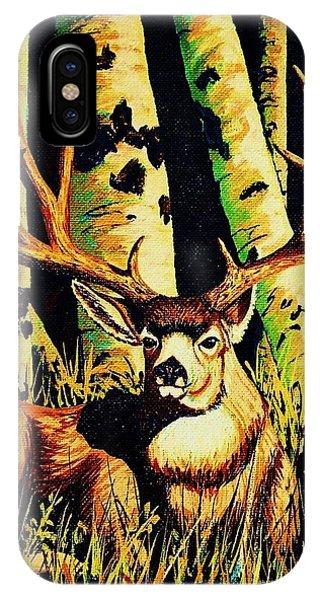 iPhone Case - Mule Deer Buck In Aspens by Cynthia Sampson