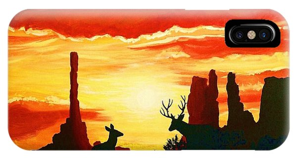 iPhone Case - Mule Deer In Sunset by Cynthia Sampson