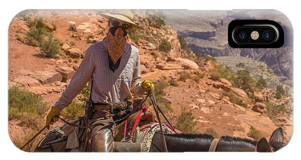 Mule Wrangler On The South Kaibab Trail IPhone Case