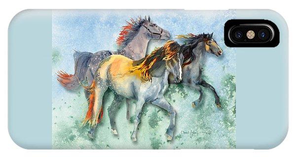 Da132 Multi - Horses Daniel Adams IPhone Case