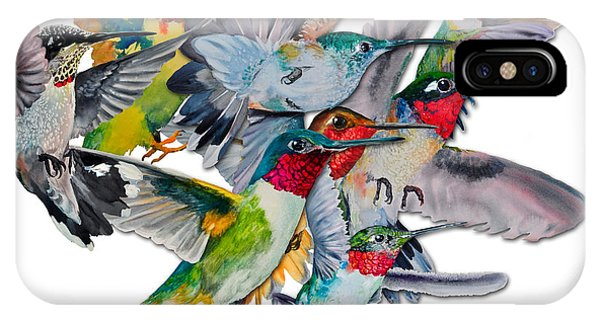 Da053 Multi-hummers By Daniel Adams IPhone Case