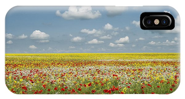 English Countryside iPhone Case - Multicoloured Field by Tim Gainey