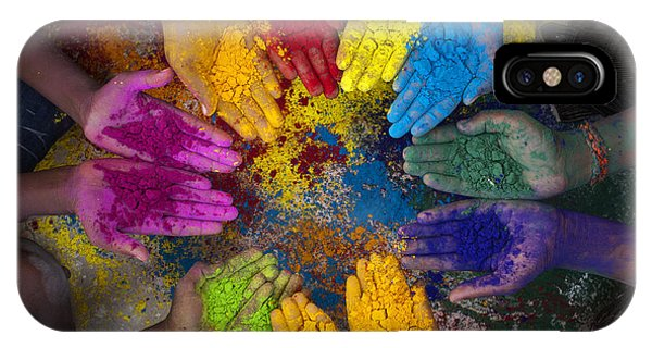 Ethnic iPhone Case - Multicoloured Hands by Tim Gainey
