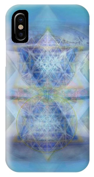 Multivortex 3d Chalice With Horizontal Vortexes Over The Earth Phone Case by Christopher Pringer