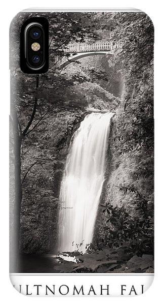 Multnomah Falls Poster IPhone Case