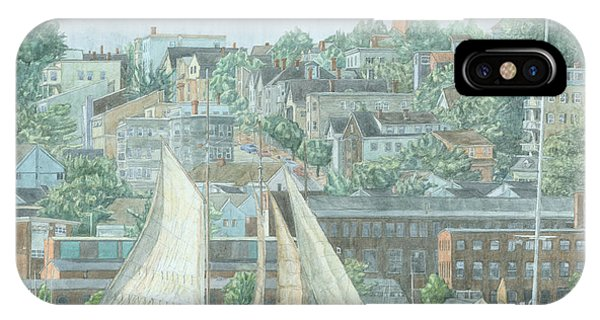 IPhone Case featuring the drawing Munjoy Hill by Dominic White
