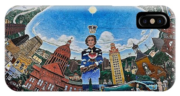 Mural Of Stephen F Austin Off Guadalupe IPhone Case