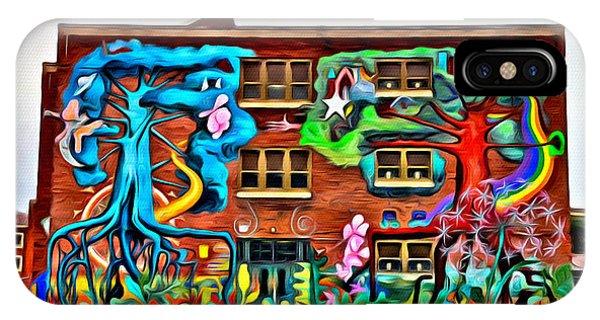 Mural On School IPhone Case