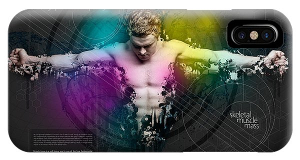 Layered iPhone Case - Muscle Hypertrophy by Samuel Whitton