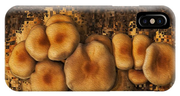Digital Effect iPhone Case - Mushroom Cluster by Jack Zulli