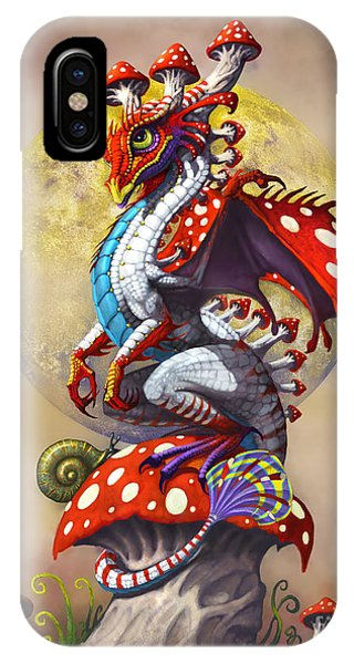 Vegetables iPhone Case - Mushroom Dragon by Stanley Morrison
