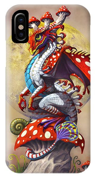 Dragon iPhone Case - Mushroom Dragon by Stanley Morrison