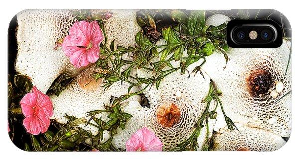 Mushrooms In Pink IPhone Case
