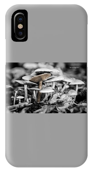 IPhone Case featuring the photograph Mushrooms by Stwayne Keubrick