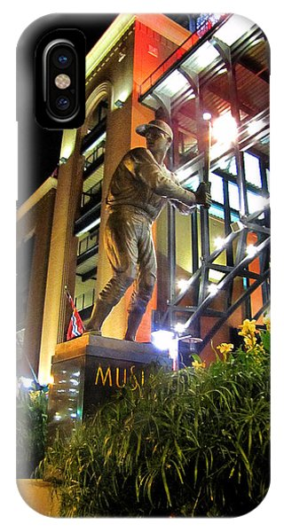 Musial Statue At Night IPhone Case