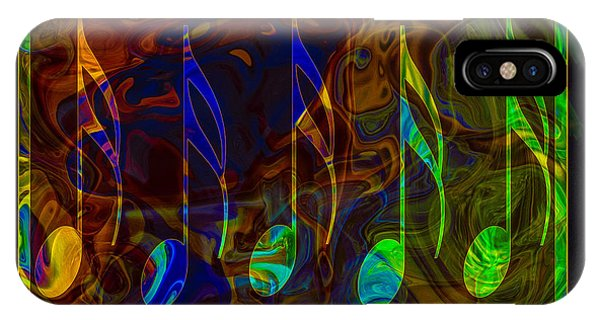 IPhone Case featuring the digital art Music Is Magical Abstract Healing Art by Omaste Witkowski