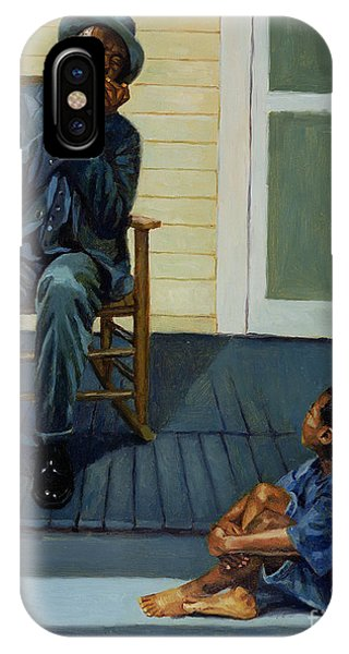 Porch iPhone Case - Music Lesson Number 1 by Colin Bootman