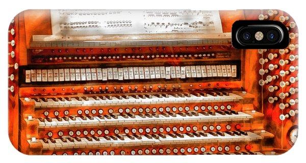 Savad iPhone Case - Music - Organist - The Pipe Organ by Mike Savad