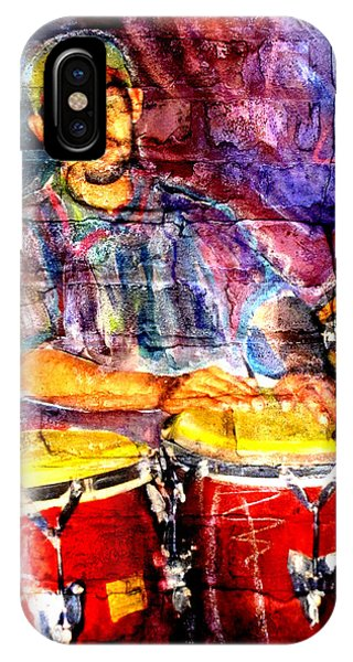 Musician Congas And Brick IPhone Case
