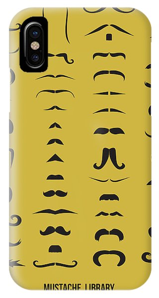 Witty iPhone Case - Mustache Library Poster by Naxart Studio
