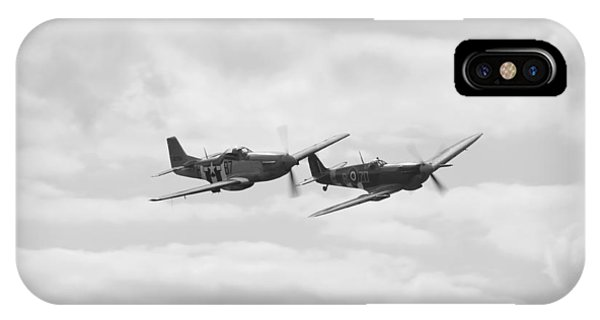 Mustang And Spiffier Fighter Planes IPhone Case