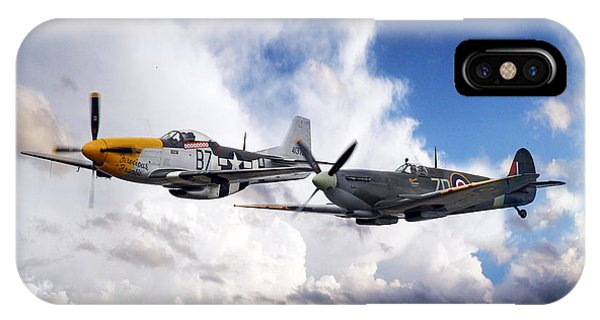 Mustang And Spitfire  IPhone Case
