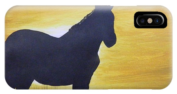 Mustang Silhouette IPhone Case