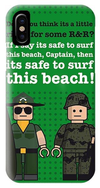 My Apocalypse Now Lego Dialogue Poster IPhone Case