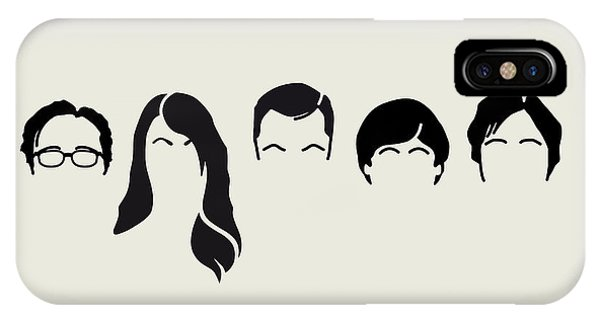 Minimalist iPhone Case - My-big-bang-hair-theory by Chungkong Art