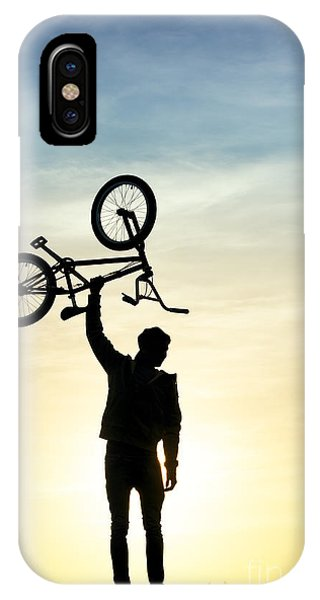Bicycle iPhone X Case - Bmx Biking by Tim Gainey