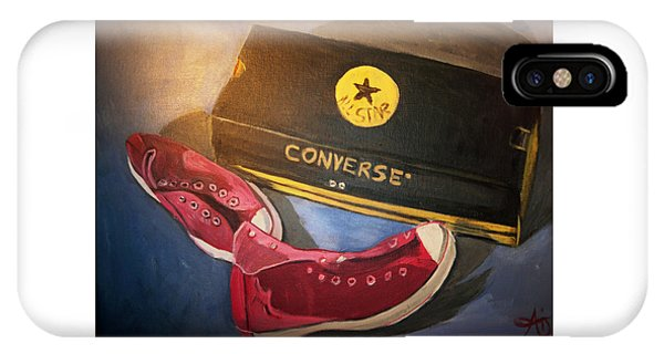 My Chucks - Pink Converse Chuck Taylor All Star - Still Life Painting - Ai P. Nilson IPhone Case