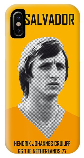 Argentina iPhone X Case - My Cruijff Soccer Legend Poster by Chungkong Art
