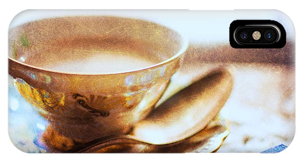 Silver And Gold iPhone Case - My Cup Of Tea by Jon Woodhams