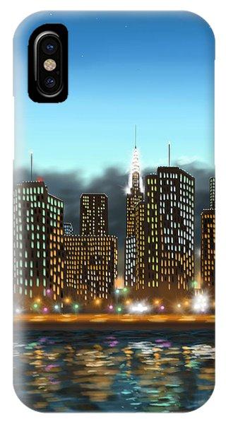 Manhattan Skyline iPhone Case - My Dream by Veronica Minozzi