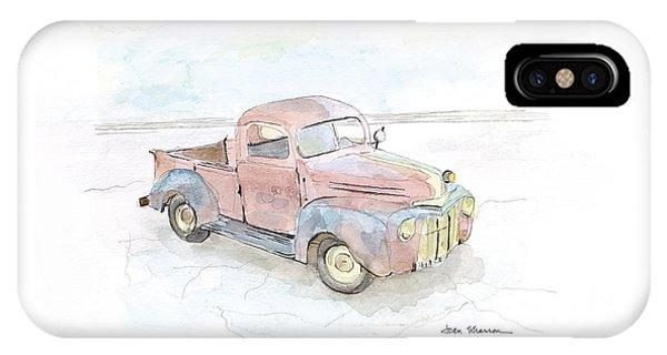 Truck iPhone X Case - My Favorite Truck by Joan Sharron