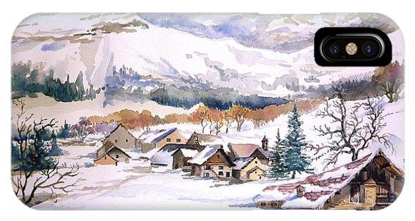 My First Snow Scene IPhone Case