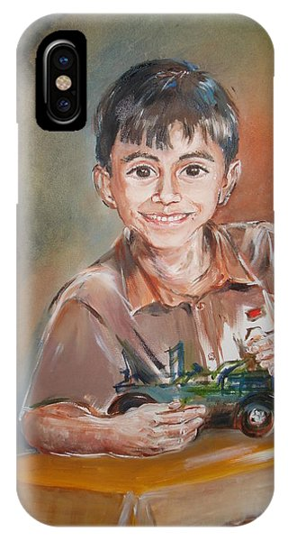 My Son iPhone Case - My Friend's Little Son by Marguerite Ujvary Taxner
