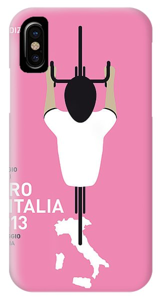 Bicycle iPhone X Case - My Giro D'italia Minimal Poster by Chungkong Art