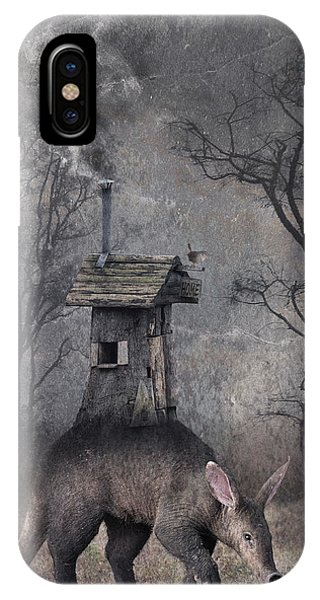 Smoke Fantasy iPhone Case - My Hut On The Back by Muriel Vekemans