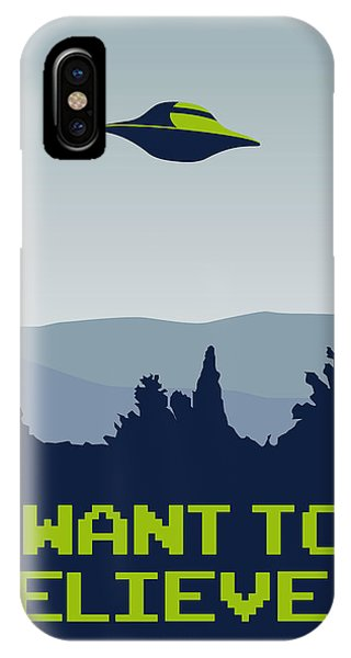 My I Want To Believe Minimal Poster IPhone Case