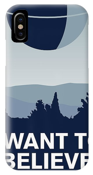 Doctor iPhone Case - My I Want To Believe Minimal Poster-deathstar by Chungkong Art