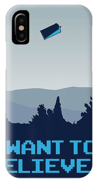 Doctor iPhone Case - My I Want To Believe Minimal Poster- Tardis by Chungkong Art