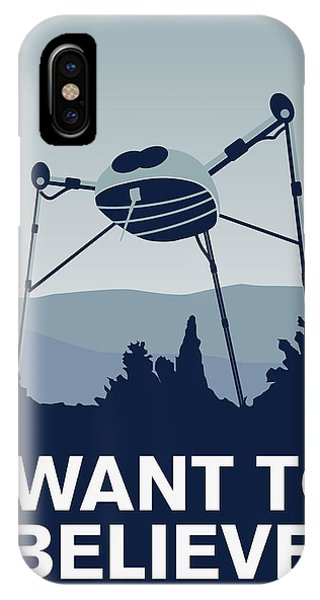 Doctor iPhone Case - My I Want To Believe Minimal Poster-war-of-the-worlds by Chungkong Art