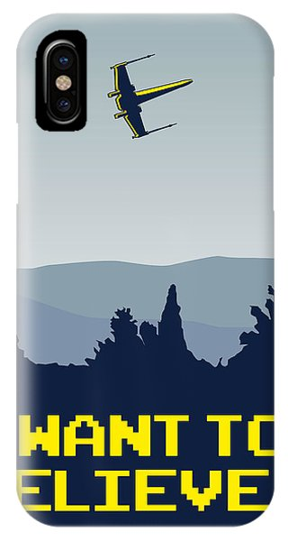 My I Want To Believe Minimal Poster- Xwing IPhone Case