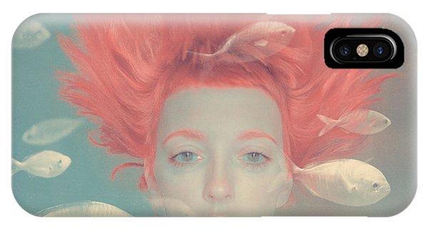 Surrealism iPhone Case - My Imaginary Fishes by Anka Zhuravleva